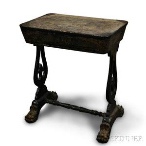 Chinese Export Lacquered Sewing Stand