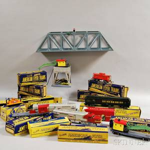 Large Group of American Flyer Trains and Track