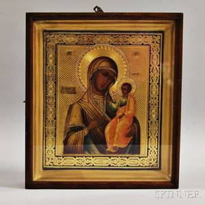 Modern Russian Icon Depicting the Mother of God