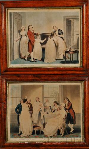 William Ward I British 17661826 After William Redmore Bigg British 17551828 Two Framed Prints The Birth of an Heir