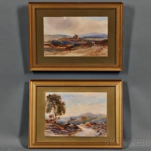 British School 19th Century Two Watercolor Landscapes