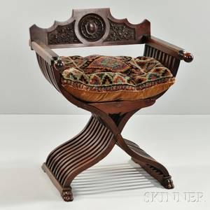 Renaissance Revival Savonarolastyle Chair
