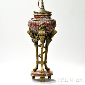 Empirestyle Marble and Giltbronze Urn