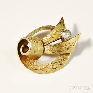 H Stern 18kt Gold and Diamond Brooch