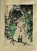 Hanging Scroll Depicting Grapevines