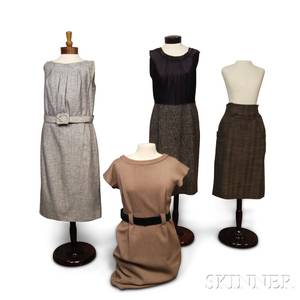 Three Wool Dresses and a Skirt