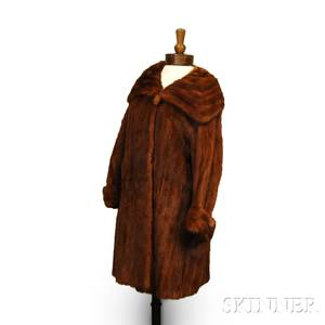 SellersGough Threequarter Length Fox Fur Coat