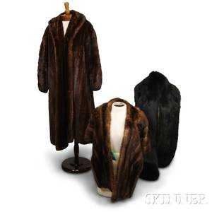 Group of Mink Fur Accessories