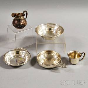 Five Sterling Silver Hollowware Items