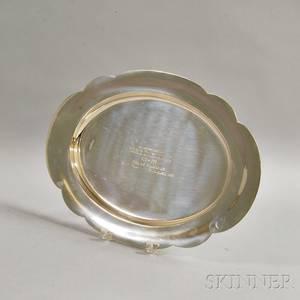 Large Wallace Sterling Silver Presentation Platter