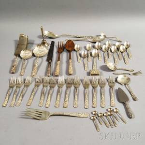 Fortyseven Pieces of Sterling Silver Flatware