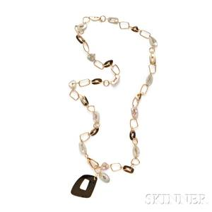 18kt Gold and MotherofPearl Necklace Mattioli
