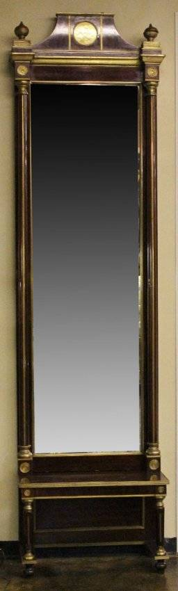 19th Century Mahogany Framed Pier Mirror