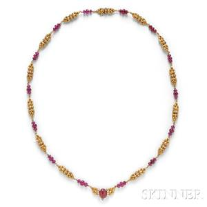 18kt Gold Ruby and Diamond Necklace Van Cleef amp Arpels