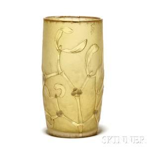 Daum Nancy Cameo Glass Vase