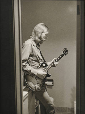 Jim Marshall American 19362010 Duane Allman 1970 printed later Inscribed 72137 in black ink and with Marshalls San Francisco