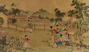 Chinese School 20th Century Women in a Garden