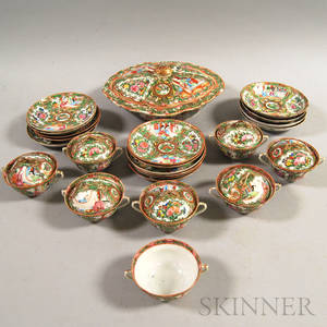 Twentyfour Pieces of Rose Medallion Porcelain