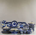 Approximately Eightythree Pieces of Mostly Flow Blue Ironstone China