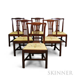 Set of Six Chippendale Mahogany Side Chairs