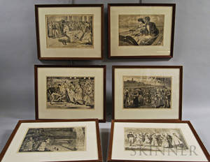 Six Framed Prints After Winslow Homer
