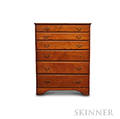 Chippendale Pine Tall Chest of Drawers