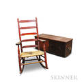 Redstained Sea Chest and Rocking Chair