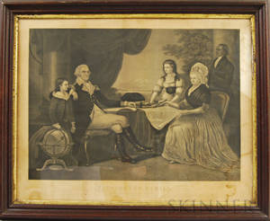 Framed Thomas Kelly Washington Family Engraving
