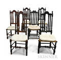 Six Bannisterback Side Chairs