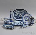 Eight Pieces of Canton Porcelain