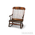 Cherry and Pine Double Rocking Chair