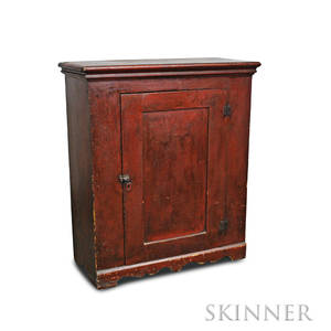 Redpainted Floor Cupboard