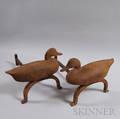 Pair of Cast Iron Duckform Andirons