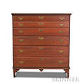Chippendale Redstained Maple Blanket Chest