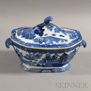 Spode Blue and White Transferdecorated Soup Tureen