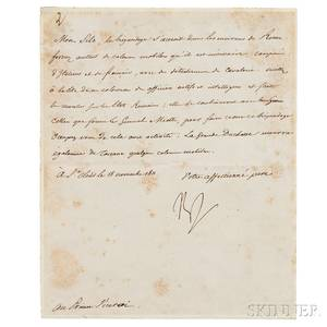 Napoleon Bonaparte I 17691821 Letter Signed 18 November 1811