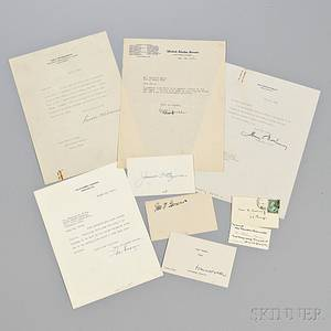 Roosevelt Franklin Delano 18821945 Archive Containing One Presidential Typed Letter Signed and Signed Material Related to Members o