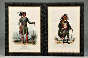 Two Framed Color Lithographs of American Indians
