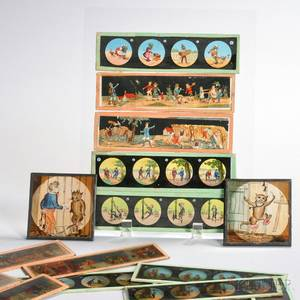 Collection of Handcolored Magic Lantern Slides