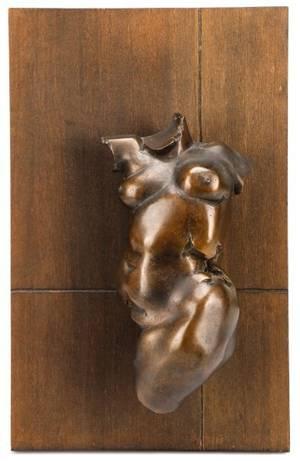 Barry Walton Torso With Setting Bronze Sculpture