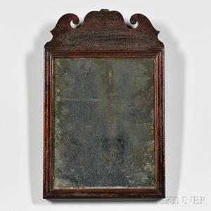 Small Queen Anne Mahogany Mirror