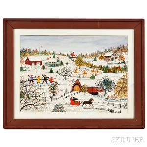 Hattie K Brunner American 18901982 Winter Scene