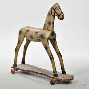 Carved and Painted Horse Pull Toy