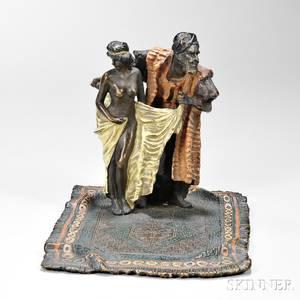 Franz Bergmann Coldpainted Bronze Figural Group