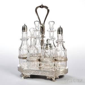 Gorham Sterling Silver Sixbottle Cruet Set