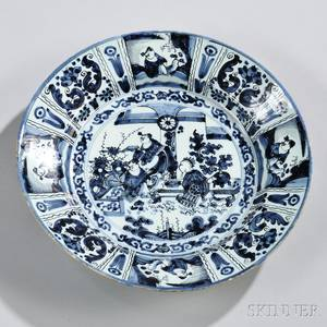 Dutch Delftware Blue and White Wan Listyle Charger