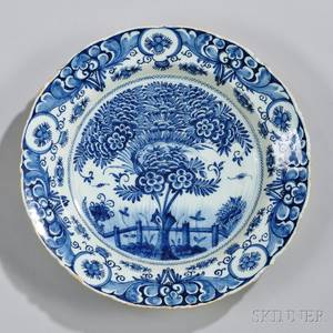 Dutch Delftware Blue and White Charger