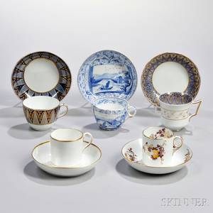 Five Wedgwood First Period Bone China Cups and Saucers