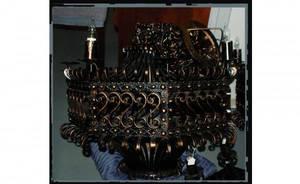 1223 Massive Turner Greenberg Gothic Iron Chandelier