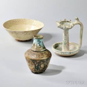 Three Middle Eastern Ceramic Vessels